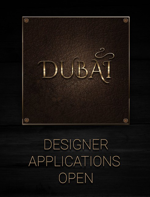 DUBAI - DESIGNER Applications open.