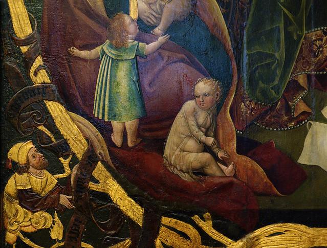 Hannover, Niedersachsen, Niedersächsisches Landesmuseum, holy family altar from the Kreuzkirche, detail