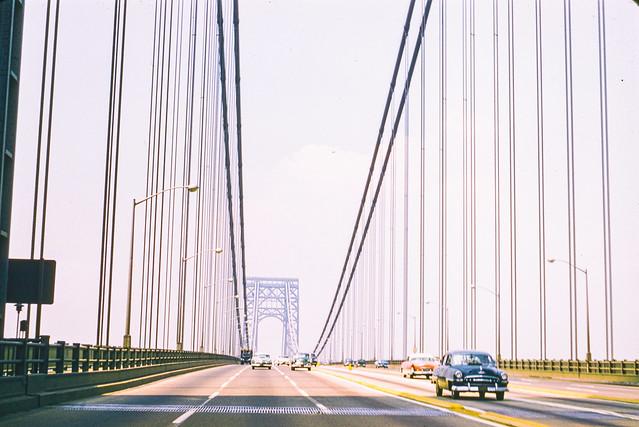 Found Kodachrome Slide -- George Washington Bridge