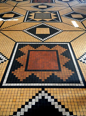 The Thorvaldsen Museum of Sculptures in Copenhagen has tiled floors in complex geometric, almost art deco, patterns