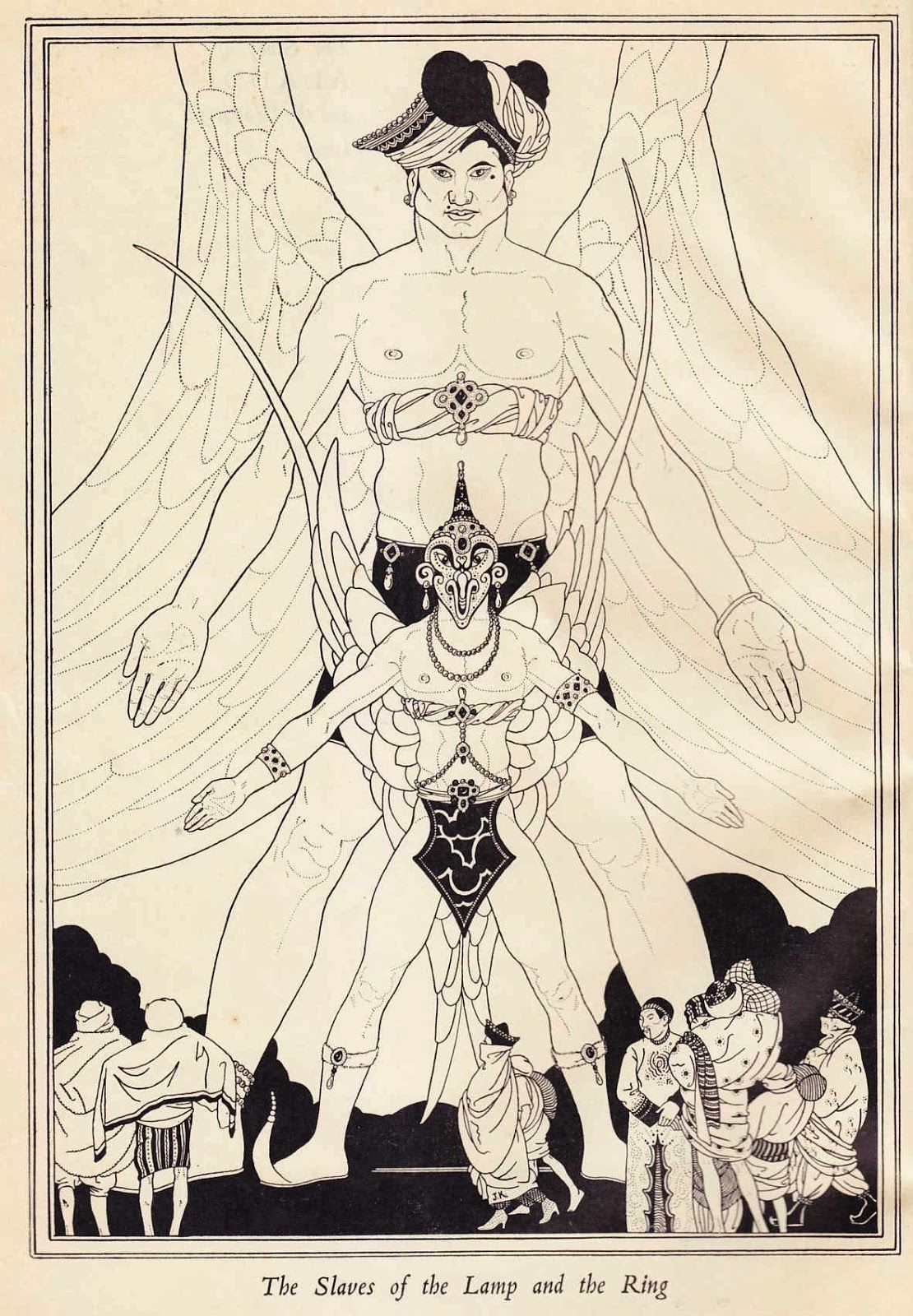"""John Kettelwell - The Slaves of the Lamp and the Ring - Illustration from """"The Story of Aladdin and the Wonderful Lamp,"""" 1928jpg"""