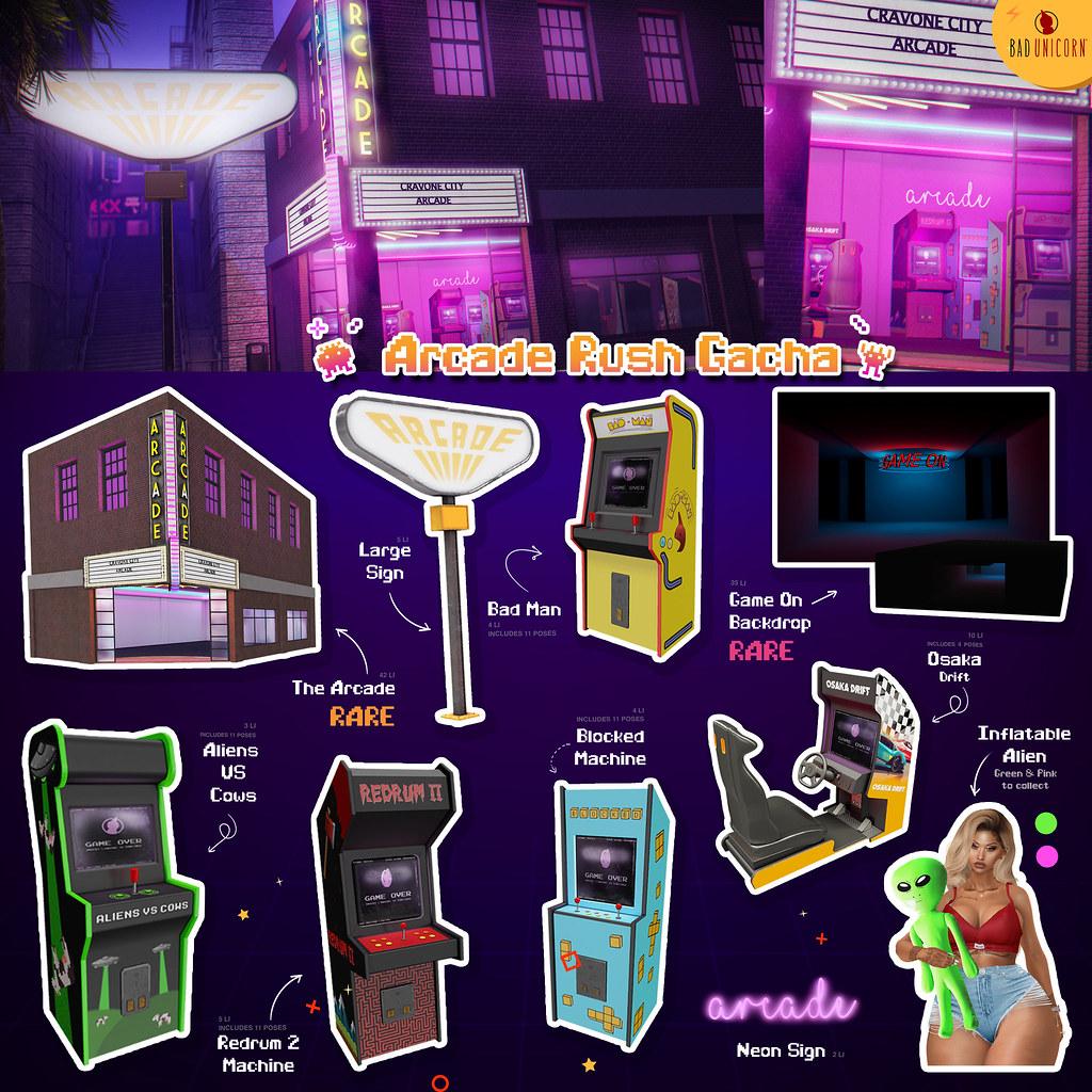 NEW! Arcade Rush Gacha @ The Arcade