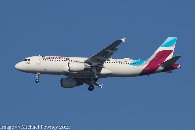 OO-SNN - 2010 build Airbus A320-214, operated by Brussels Airlines, but still in Eurowings colours