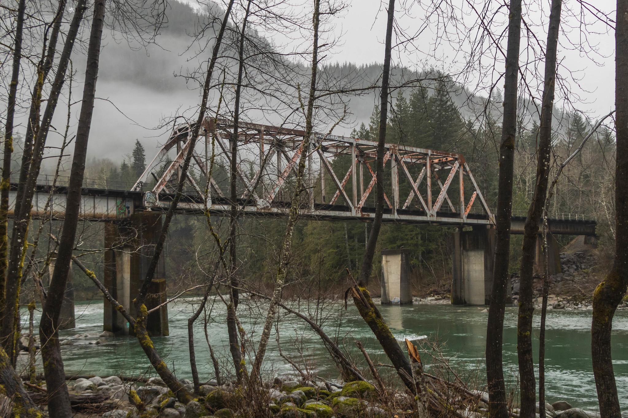 Trestle over Skykomish River