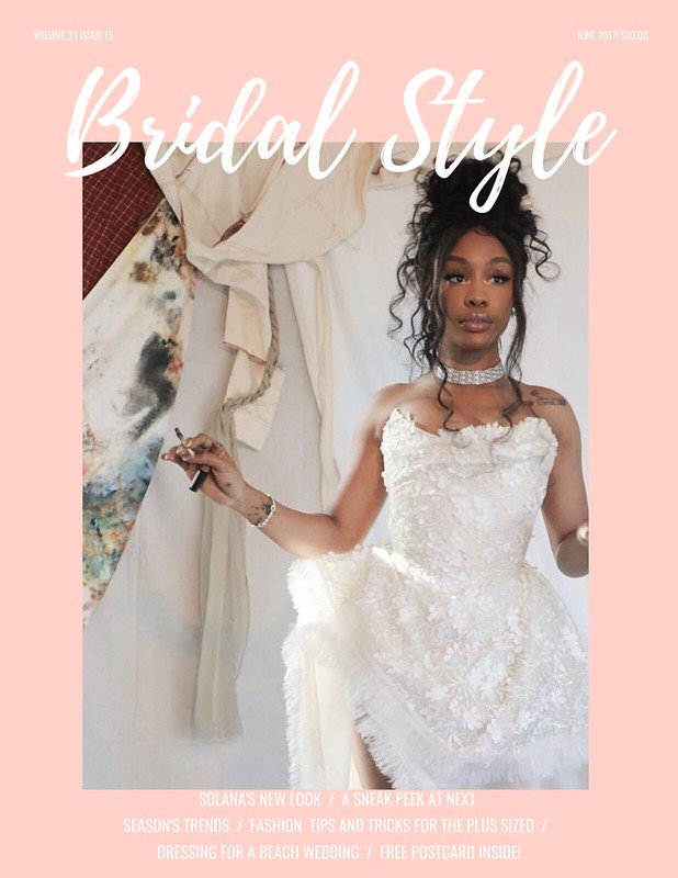 Pink Gown Wedding Magazine Cover