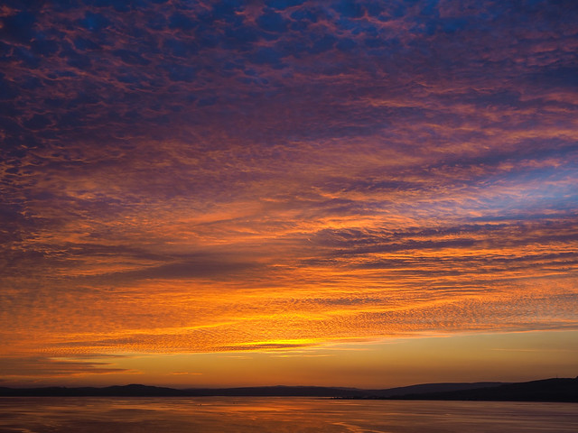 Sunset over Rothesay Bay