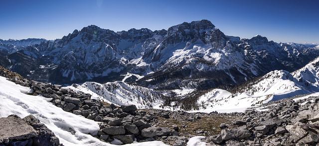 Pano versante nord gruppo Montasio , alpi Giulie