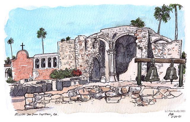 mission san juan capistrano, south of LA
