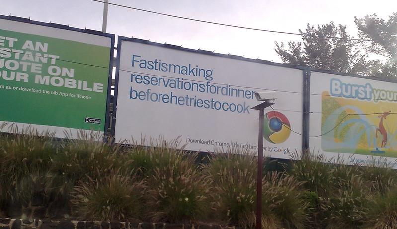 Advertising for Google's Chrome web browser, February 2011