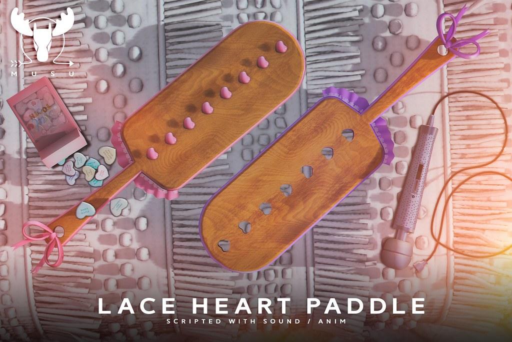 -MUSU- Lace Heart Paddle @ Kinky