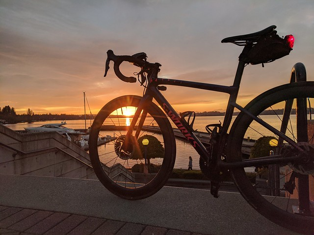 Carillon Point Sunset: Bike Selfie
