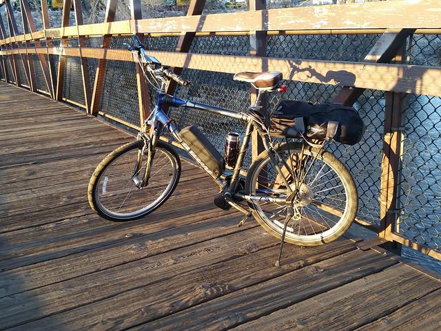 Ebike on a bridge