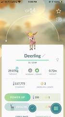 Deerling 🔘🌿 • • • • • • #niantic #nintendo #thepokemoncompany #pokemon #creaturesinc #gamefreakinc #pokemongo #normal #grass #pokemondeerling #caught #toronto #yorksouth #westonroad #pokemon25