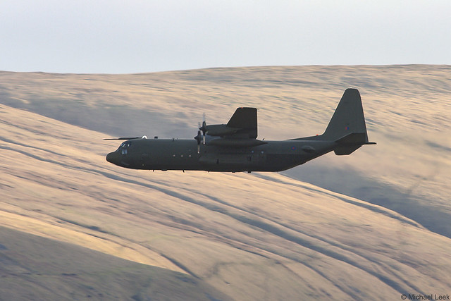 Unidentified RAF Lockheed C-130J Hercules; Black Mountains, Powys, Wales