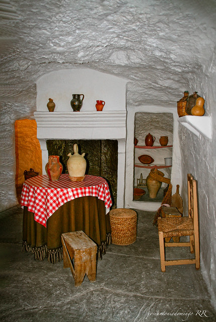 Interior de un molino de viento.