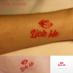 Lick Me - Adult Temporary Tattoo