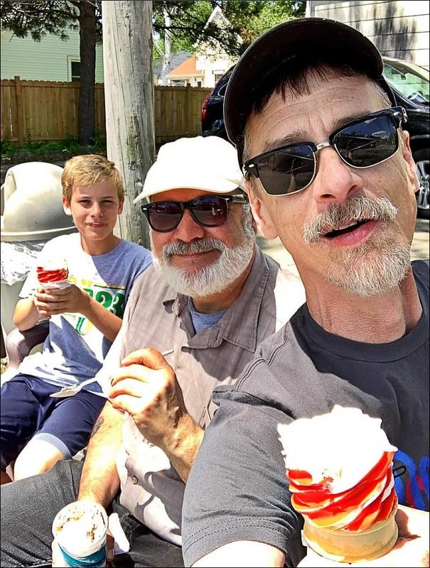 Neighborhood Ice Cream 🍦 stand opened today. Gene's Dairy Delight. Last summer photo