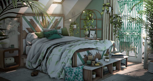 ◤ GREENER BEDROOM ◢