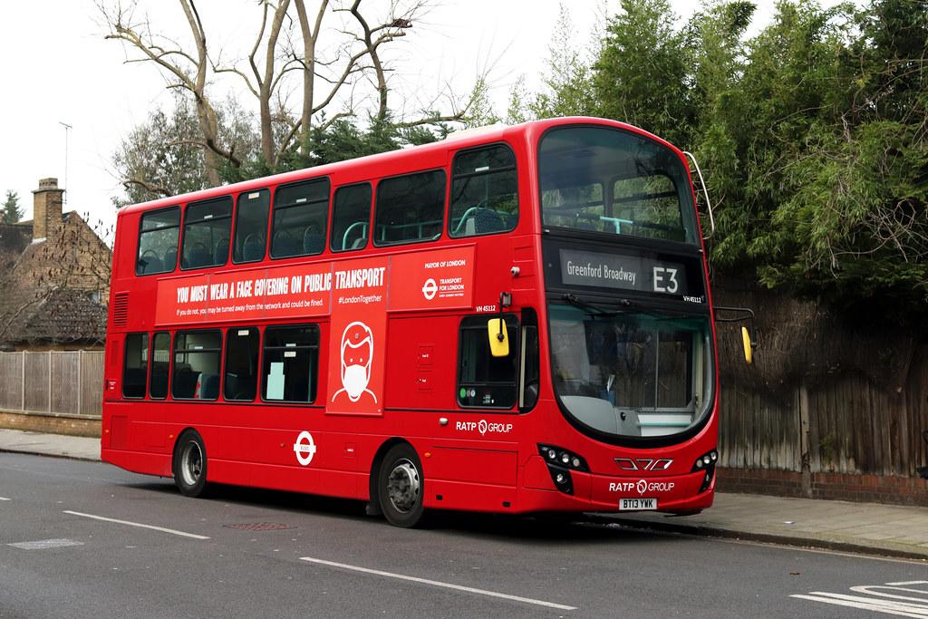 Route E3, London United, VH45112, BT13YWK