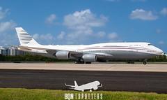 Qatar Amiri Flight Boeing 747-8i (BBJ)    TJSJ/SJU    A7-HBJ