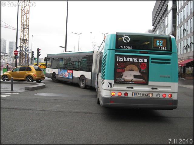 Irisbus Citélis 18 – RATP (Régie Autonome des Transports Parisiens) / STIF (Syndicat des Transports d'Île-de-France) n°1872