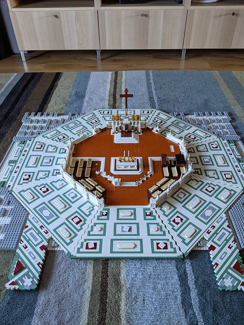 Lego Florence Cathedral alter area...fit test for the major floor section to make sure they are designed/built correctly.