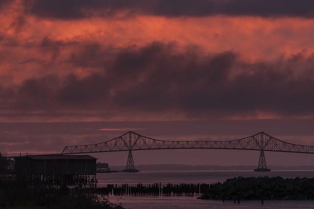 Astoria-Megler Bridge, and Cannery Piers, Astoria, Oregon