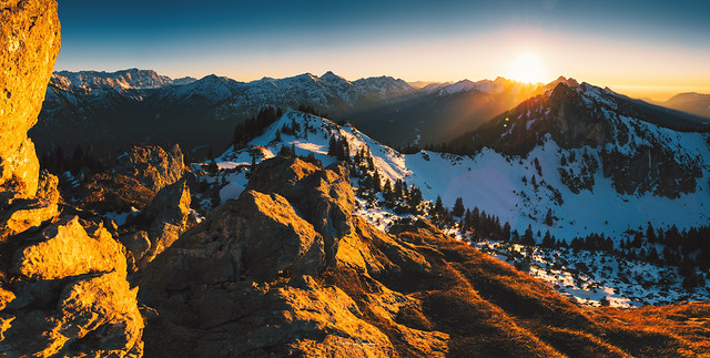 Bayrischer Bergsonnenuntergang