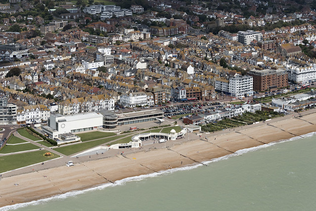 Bexhill-on-Sea aerial image - East Sussex UK