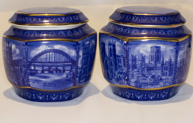 Our Daily Topic - Pairs.  Two items of Ringtons pottery showing local scenes.  Ringtons are a local tea company dating back to 1907 who deliver door to door.   IMG_5382