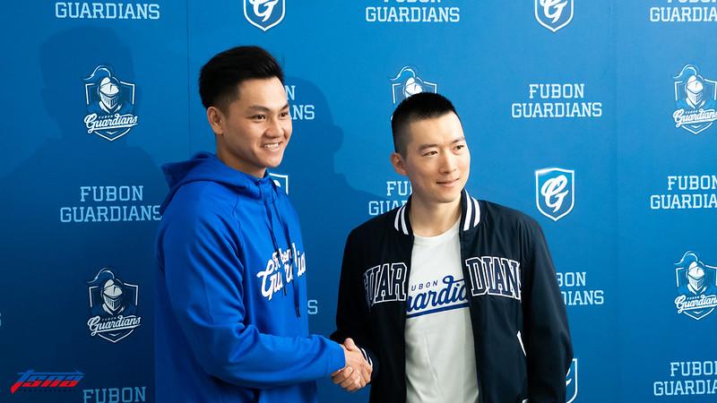 江少慶(左)與蔡承儒(右)。(攝影賴柏安/現場拍攝)