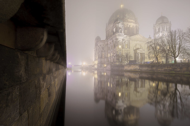 Berlin Cathedral at Night and Fog