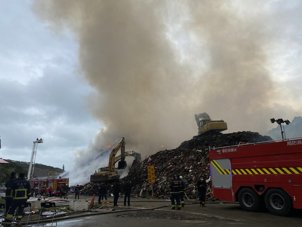 4.環保局長程大維表示,過年前三個月由於回收傢俱量暴增三成,有將近一萬噸回收廢棄物置於此,起火原因仍待事後調查