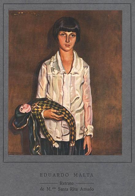 Ilustração antiga | vintage illustration | retrato | portrait | Portugal 1920s