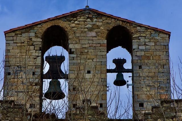 Campanar de Església Parroquial de Santa Maria de Camprodon,  Ripollès, Girona.
