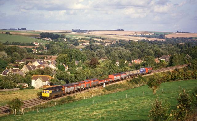 Class 33 At Hanging Langford. 22/09/1987.