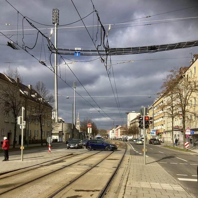 Wettersteinplatz in Richtung 60er