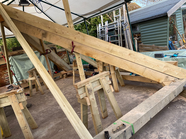 Softwood rafter in place - 2