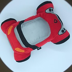 Genuine Smartware Plush cuddly toy car Smart Roadster Red