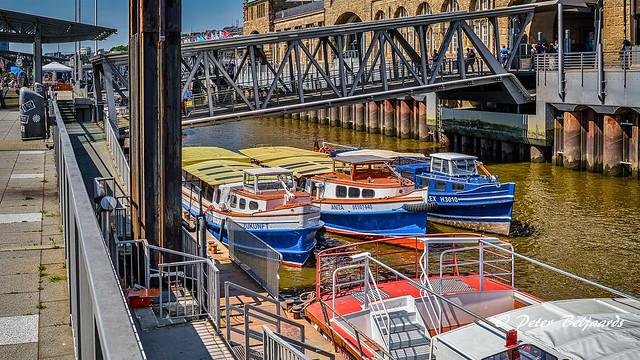 Barges harbor tour, Hamburg Germany