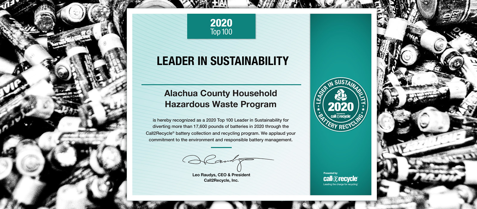 recycled battery award