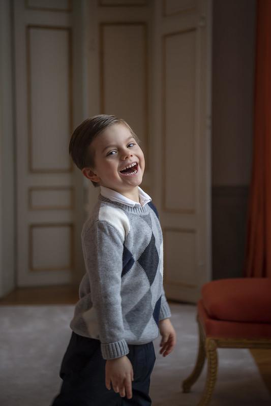 5e verjaardag Prins Oscar van Zweden