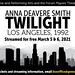 """Fri, 02/19/2021 - 09:39 - Genesee Community College's Forum Theatre Players production of """"Twilight, Los Angeles, 1992"""" ad graphic"""