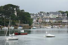 Cale de Sainte Marine, estuaire de l'Odet, Bénodet, Pays fouesnantais, Cornouaille, Finistère, Bretagne, France.