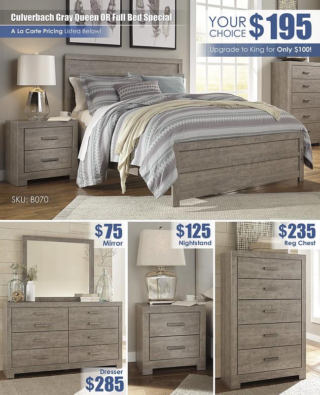Culverbach Gray A La Carte Bedroom Layout Special_B070_2021