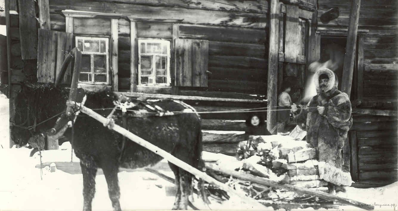 08. Самарово. Галкин А.И. подвозит дрова