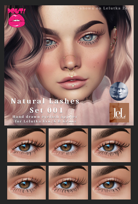 [POUT!] Natural lash 001 AD