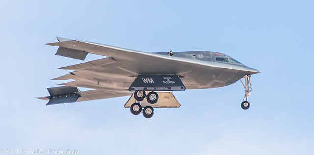 B-2 Landing at Nellis AFB during Red Flag 21-1