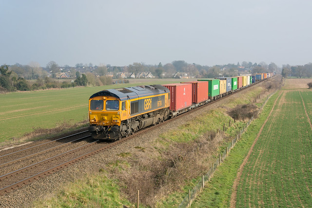 66784 Thurston 02/03/21 - 4E21 1120 Felixstowe South Gbrf to Doncaster Railport (Gbrf)