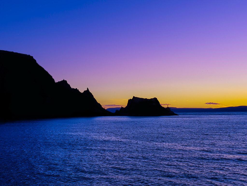 Sonnenuntergang über den Lofoten